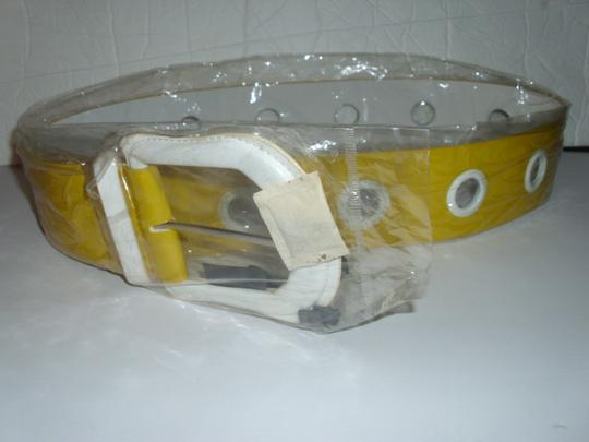 unbranded New huge bright yellow thick wide chunky belt hip waist Image 4