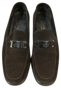 Gucci Loafers Suede Loafers brown Flats
