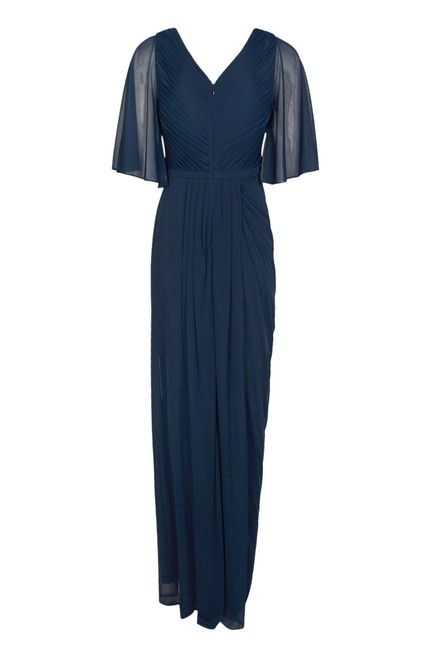 Adrianna Papell Draped Flutter Slit Gown Dress Image 3