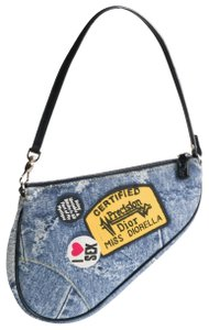 Dior Saddle Denim Diorella Mini Shoulder Bag