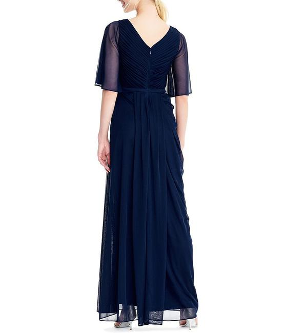 Adrianna Papell Draped Flutter Slit Gown Dress Image 2