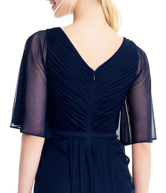 Adrianna Papell Draped Flutter Slit Gown Dress Image 5