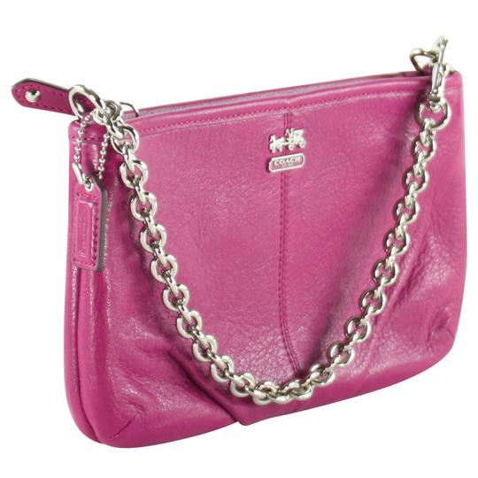 Coach Accessories Leather Wristlet in Magenta Image 1