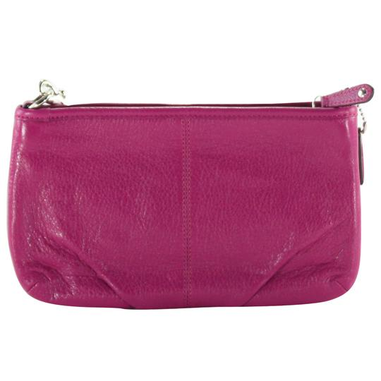 Coach Accessories Leather Wristlet in Magenta Image 2