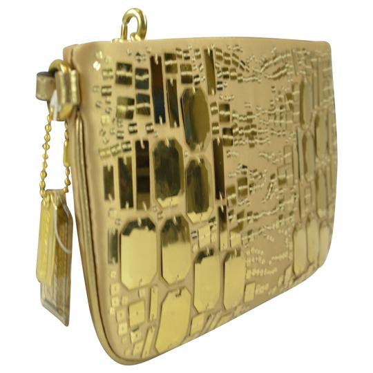 Coach Sequin Clutch Wristlet in Gold Image 1