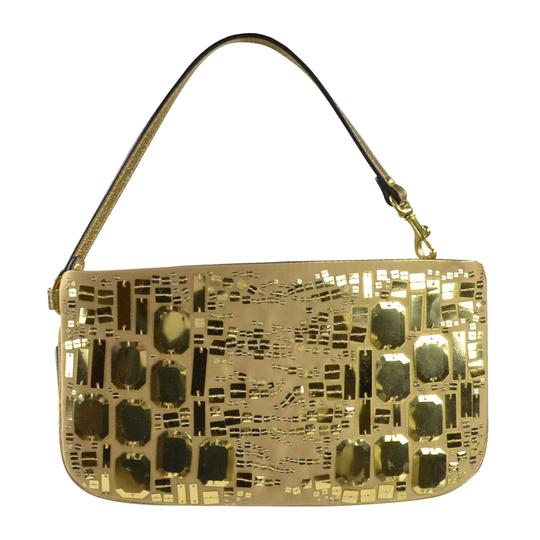 Coach Sequin Clutch Wristlet in Gold Image 3