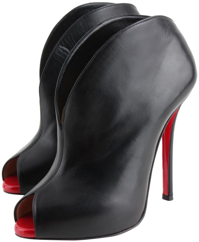 detailed look a9077 437fc Christian Louboutin Black Chester Fille Peep-toe Boots/Booties Size US 6  Regular (M, B) 24% off retail