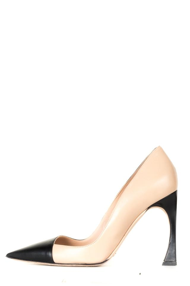 d7dbee54e74 Dior Nude Christian and Black Leather Heels Pumps Size EU 37 (Approx ...