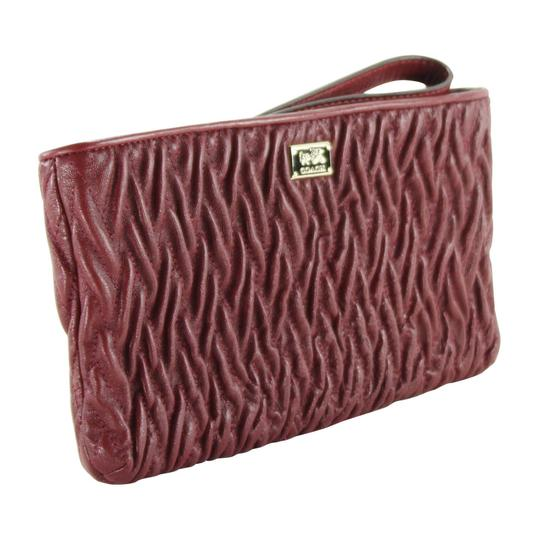 Coach Twisted Leather Wristlet in Brick Red Image 1