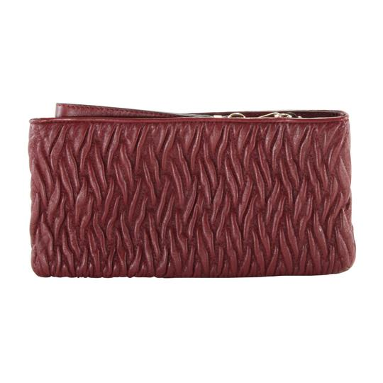 Coach Twisted Leather Wristlet in Brick Red Image 2