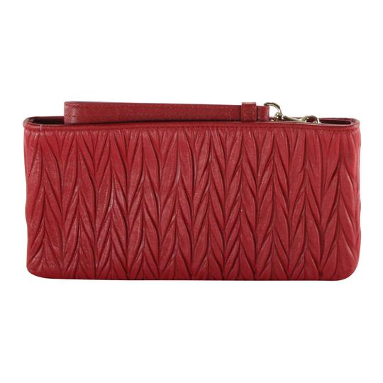 Coach Gathered Leather Leather Accessories Wristlet in Red Image 2