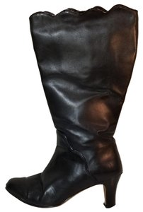 Ros Hommerson Wide Calf Extended Calf Leather Winter Black Boots