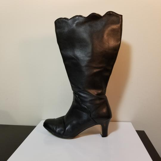 Ros Hommerson Wide Calf Extended Calf Leather Winter Black Boots Image 1