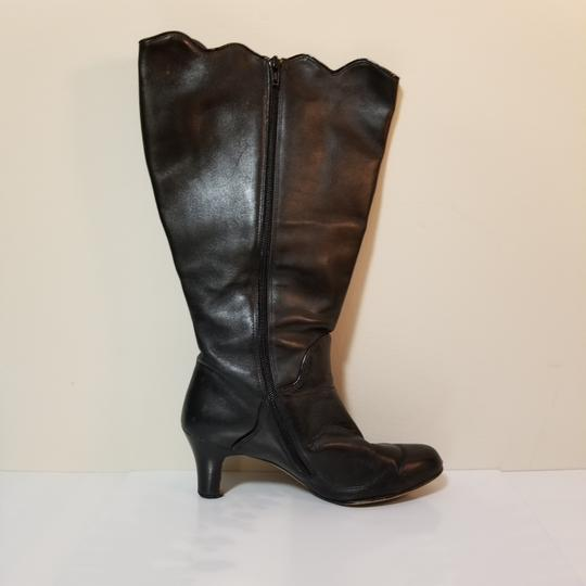 Ros Hommerson Wide Calf Extended Calf Leather Winter Black Boots Image 3