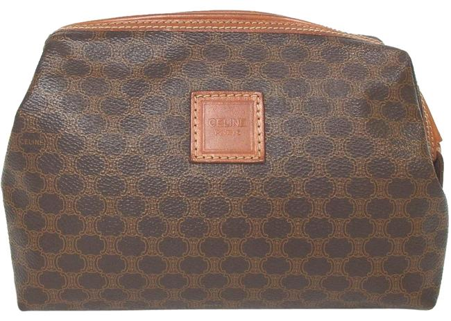 Item - Macadam Pattern Pouch Brown Pvc/Leather Weekend/Travel Bag