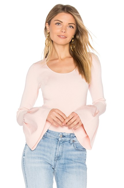 Preload https://img-static.tradesy.com/item/24396536/elizabeth-and-james-women-s-willow-ribbed-knit-new-s-pink-sweater-0-0-650-650.jpg