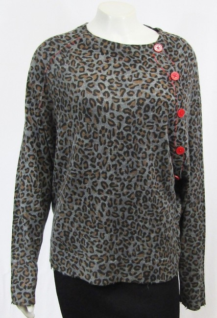 Zadig & Voltaire Distressed Leopard Knit Print Sweater Image 11