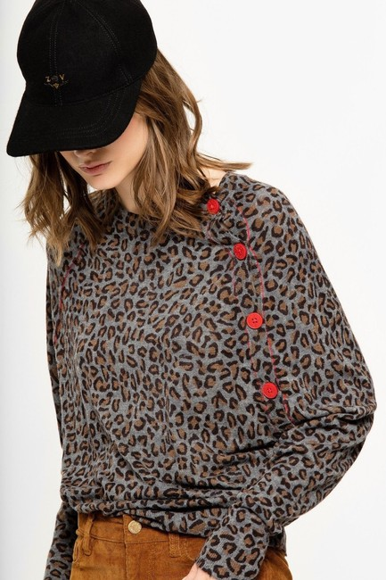 Zadig & Voltaire Distressed Leopard Knit Print Sweater Image 2