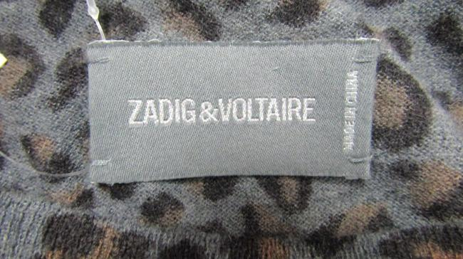Zadig & Voltaire Distressed Leopard Knit Print Sweater Image 7