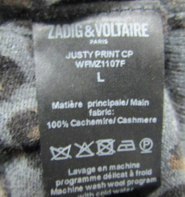 Zadig & Voltaire Distressed Leopard Knit Print Sweater Image 9