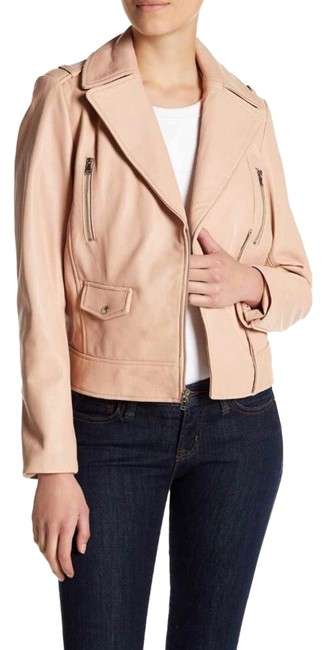 Cole Haan Pink Leather Jacket Image 0
