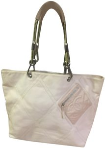 Chanel Leather Canvas Satchel in Pastel Pink