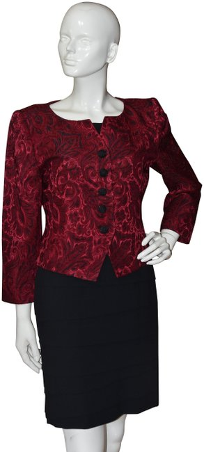 Preload https://img-static.tradesy.com/item/24396615/saint-laurent-red-yves-encore-and-black-brocade-blazer-size-8-m-0-1-650-650.jpg