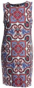 Charter Club 3x Plus Size Sleeveless Multi Color Dress