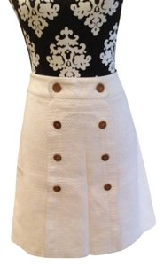 J. McLaughlin Summer Nautical Resort Skirt White