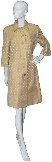 Preload https://img-static.tradesy.com/item/24396745/brooks-brothers-yellow-brocade-topper-short-workoffice-dress-size-10-m-0-1-650-650.jpg