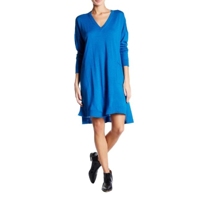 Preload https://img-static.tradesy.com/item/24396758/eileen-fisher-blue-tunic-sweater-short-casual-dress-size-8-m-0-0-650-650.jpg
