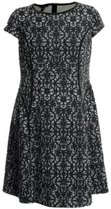 Alfani 14w Fit Flare Black White Dress