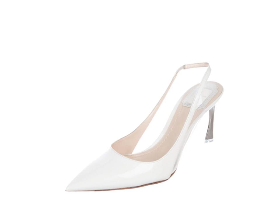 c7075c2366 Dior White Christian Songe Slingback Pumps Size EU 38.5 (Approx. US ...