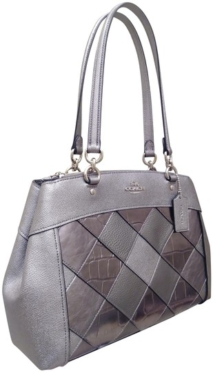 Preload https://img-static.tradesy.com/item/24396887/coach-carryall-with-patchwork-gunmetal-silver-leather-shoulder-bag-0-1-540-540.jpg
