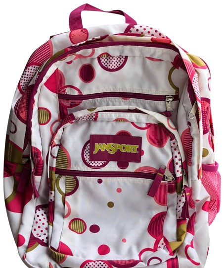 Preload https://img-static.tradesy.com/item/24396894/jansport-white-with-details-pink-backpack-0-1-540-540.jpg