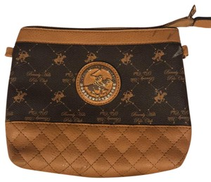 Beverly Hills Polo Club tan ,brown ,and gold Clutch