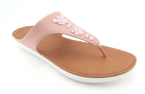 FitFlop Banda Duocomff Nude Studded Arch Support Baby Pink Sandals