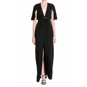 Halston Heritage Studs Flutter Sleeves Gown Empire Dress