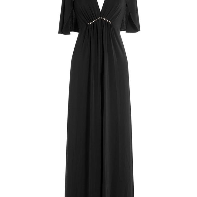 Halston Heritage Studs Flutter Sleeves Gown Empire Dress Image 1