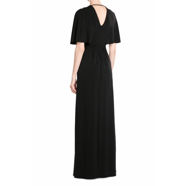 Halston Heritage Studs Flutter Sleeves Gown Empire Dress Image 2