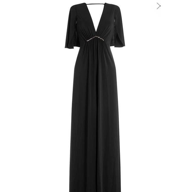 Halston Heritage Studs Flutter Sleeves Gown Empire Dress Image 3