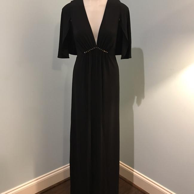 Halston Heritage Studs Flutter Sleeves Gown Empire Dress Image 4