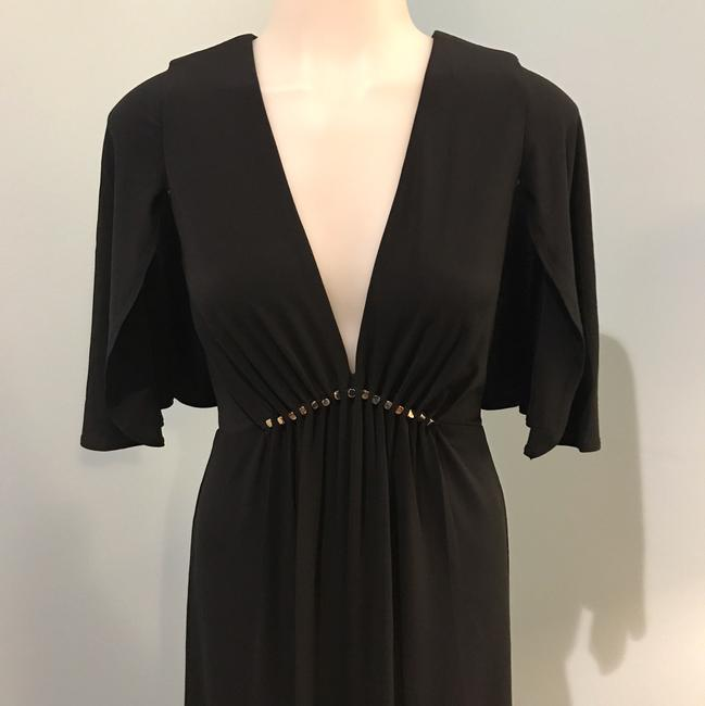 Halston Heritage Studs Flutter Sleeves Gown Empire Dress Image 8