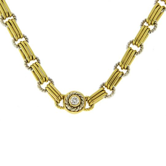 Pepi Pepi 18K White & Yellow Gold 33 Grams Diamond Link Chain Necklace Image 1