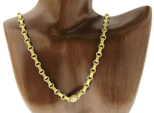 Pepi Pepi 18K White & Yellow Gold 33 Grams Diamond Link Chain Necklace Image 2
