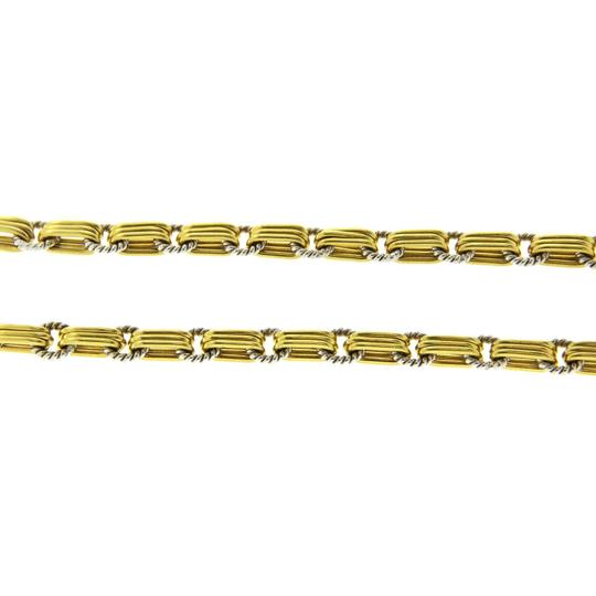 Pepi Pepi 18K White & Yellow Gold 33 Grams Diamond Link Chain Necklace Image 3