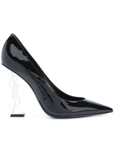 Saint Laurent Opyum Opyum 110mm Opyum Patent Leather Opyum Red Heel Black Pumps