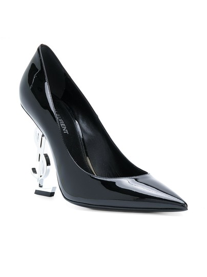 Saint Laurent Opyum Opyum 110mm Opyum Patent Leather Opyum Red Heel Black Pumps Image 1