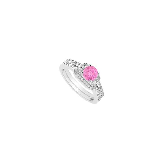 Preload https://img-static.tradesy.com/item/24396999/pink-created-sapphire-and-cubic-zirconia-engagement-with-wedding-ring-0-0-540-540.jpg