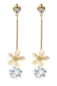Ocean Fashion Gold Pendant flower crystal earrings